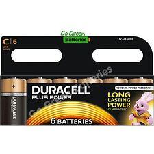 6 x Duracell C Size Plus Power Alkaline Batteries (LR14, MN1400, MX1400, BABY)