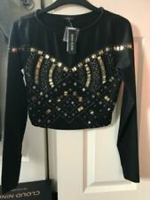River Island Sequin Women's Cropped