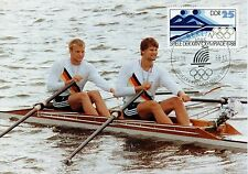 CARTE POSTALE MAXIMUM / GERMANY ALLEMAGNE SPORT / OLYMPIADE 1988 / AVIRON