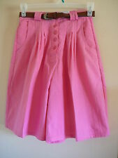 Willow Bay  Shorts Pink Walking Shorts NWT Size 11 Cotton Blend Pleated Solids