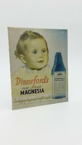 Dinneford's Pure Fluid Magnesia Shop Advertising Sign