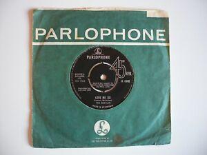 """The Beatles Love Me Do 7"""" Vinyl UK 1964 Press Black Parlophone IN/IN MPZT Single"""