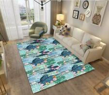 3D Cactus Flower Blue Non-Slip Rug Door Shower Play Mat Hearth Floor Carpet 43