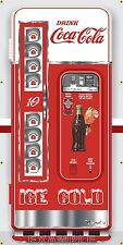 ANTIQUE VENDING COKE COCA COLA SODA MACHINE STYLE BANNER LARGE SIGN ART 3' X 6'