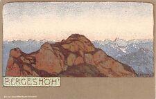 c.1905 Bergeshoh Germany post card artist sgd. Ernst Liebermann Art Nouveau