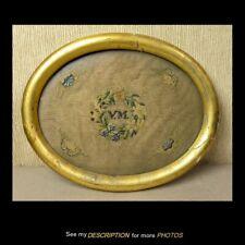 Antique Approx 1790 Primitive Sampler Vm Canterbury Connecticut Gold Leaf Frame