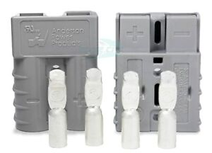 SB50 Anderson Power Products Connector Kit, 50 Amps, 36V Grey, w/ 6 AWG (PAIR)
