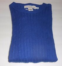 L.O.G.G. H&M Men's Wool Blend Long Sleeve Mock Cable Sweater Blue Large (L) NWT