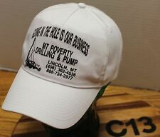MONTANA POVERTY DRILLING & PUMP LINCOLN MT HAT WHITE SNAPBACK VGC C13