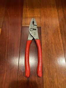"""Snap-on 47CF 8.25"""" Talon Grip Combination Slip Joint Pliers Red USA"""