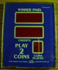 IGT. Slot Machine Part. Winner Paid Glass. Blue. 2 Coin. Used. 4 ¼ X 5 3/8.