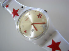 STAR FEELINGS! Patriotic Swatch STARS & STRIPES with DATE, Leather Band!