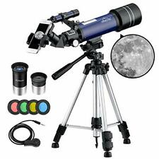 MAXLAPTER Telescope for Kids Adults Astronomy Beginners, 70mm Aperture (blue)