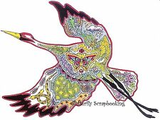 CRANE BIRD Animal Spirit Cling Unmounted Rubber Stamp EARTH ART Sue Coccia New