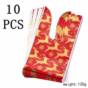 10Pcs Christmas Candy Cookies Gauze Bag Stocking Bottle Xmas Ornaments Decor Hot