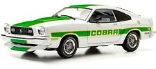 1978 Mustang II Cobra II in White with Green stripes 1:18 GreenLight 12895