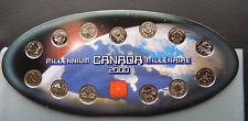 "2000 Canada RCM 25 Cents Millennium Collector Set of Coinsl ""13 coins"" SBC2000OV"