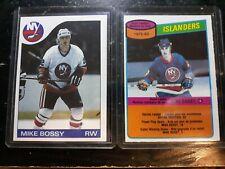 Mike Bossy 2 card lot 1985 Topps 1980 OPC New York Islanders NHL