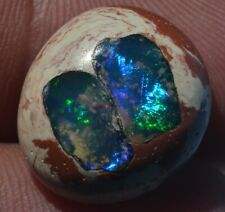 12.5 ct ETHIOPIAN NATURAL FIRE OPAL INLAY CAB GEMSTONE TO NICE SETTING JEWELRY