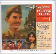 New YOUR STORY HOUR EXCITING EVENTS Series Volume 1 3-CD Audio Set Homeschool