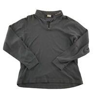 Spyder Men's 1/4 Zip Athletic Pullover Gray Size 2XL Long Sleeve