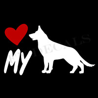 German Shepherd Love My Custom Car Window Vinyl Decal Sticker