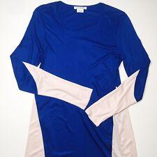 Lacoste Blue Pink Color Block Viscose Dress Women Size 38 M