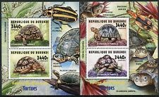 More details for burundi 2014 mnh fauna turtles leopard tortoise 2x 2v deluxe m/s reptiles stamps
