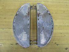 Vintage Harley Panhead Knucklehead Flathead Shovelhead Bobber Chrome Footboards