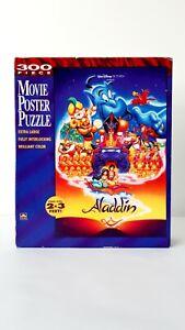 Walt Disney Golden - Aladdin Movie Poster Puzzle - 300 Pieces - Complete - EUC