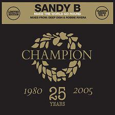 "Classics Series Vol 5 Sandy B - Make The World Go Round - 12"" Vinyl Record + CD"
