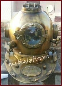 Vintage Diving Helmet Mark V Deep Water Style Gift Decor Antique U.S.Navy Diver