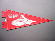 VERY RARE 1976 CANADA MONTREAL CANADIAN OLYMPIC GAMES PENNANT FLAG SHARP!!