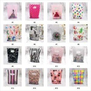 Pattern Jewelry Plastic Bag With Handle 15x20cm Wedding Gift Thick Shop Gift