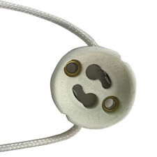Satco 90-1552 GU10 base porcelain round ceramic socket features mounting holes