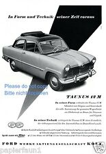 Ford Taunus 12 M Reklame von 1954 Schiebedach Faltdach Werbung ad      ßß