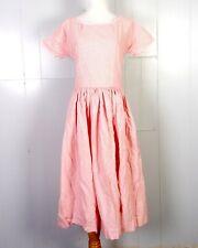 vtg 50s 60s Rockabilly Fine Red Plaid Check Cotton Circle Dress sz S