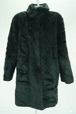 08308 Concept Women Coat Jacket Faux Fur Black Size Large Bust 46 XL