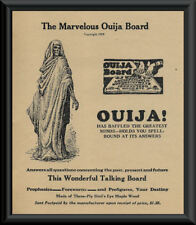 Ouija Board Advertisement Reprint On 90 Year Old Paper - Ghost Hunting *P095
