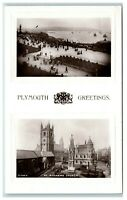 Postcard Plymouth Devon greetings The Hoe and St Andrew's Church