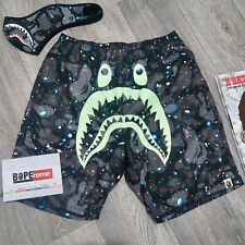 A Bathing Ape Bape Space Camo Shark Beach Shorts Glow In The Dark M Medium Pants