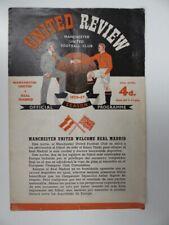More details for manchester united v real madrid   1956/1957   ec s-f   25 apr 1957   uk freepost