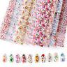 10 Rolls/Set Nail Foil Stickers Set PVC Flower Nail Foils 3D Nails Art Manicure