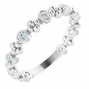 Diamond Beaded Ring In Sterling Silver (1/4 ct. tw