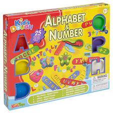 25pc Kids Play Dough vasche & plasmare Set alfabeto e NUMERO Craft Bambini Natale