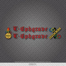 0501 - Ephgrave Bicycle Frame Stickers - Decals - Transfers