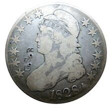 Capped bust half dollar 1828 Overton 104 with counterstamp