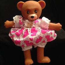 "Teddy Bear Toy Doll Rubber Head Hands Feet Bean Body 8"" Gift"