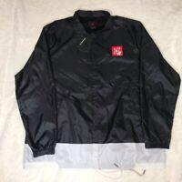 Nike Air Jordan Legacy AJ 4 Men's Jacket  Black Snap Drawstrings XXL New