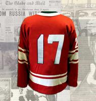 Valeri Kharlamov 1972 Summit Series Wool Replica Jersey Size L
